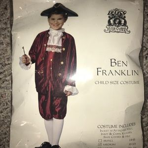 Ben Franklin Costume Medium Child